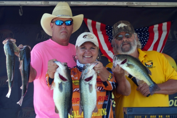 The Pro Champion Lady Bass Classic 2018 Penny McCurdy of Gillam, LA with 34.99 lbs.